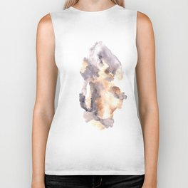 Soft Texture Watercolor | [Grief] Latched Biker Tank