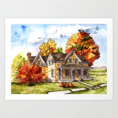 October on the Farm Art Print