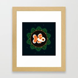 Butterfly goldfish - white Framed Art Print
