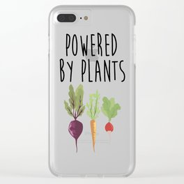 Powered by Plants Clear iPhone Case