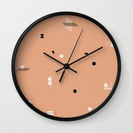 Shape Study Terra Cotta Wall Clock