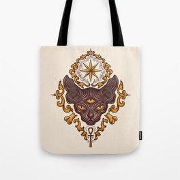 black cat with three eyes Tote Bag