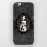 literary iPhone & iPod Skins featuring Literary girl - La littéraire by Andi Lee artworks