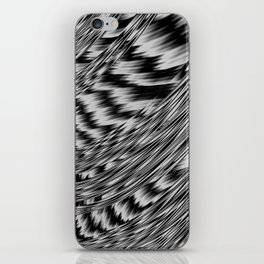 Black and White Abstract Fractal iPhone Skin