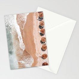 Aerial Beach Print, Beach Photography, Aerial Photography, Blue Ocean Print, Sea Beach Print Stationery Cards