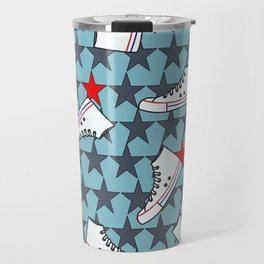 sneakers pattern Travel Mug