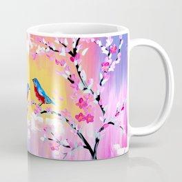 Sunset and Cherry Blossom Coffee Mug