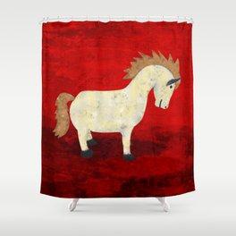 Vintage Pony Design Shower Curtain