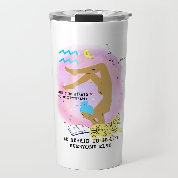 Aquarius zodiac Travel Mug