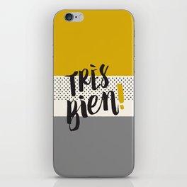 Très Bien on Stripes iPhone Skin