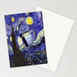 TARDIS STARRY NIGHT Stationery Cards