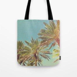 Retro Summer Palm Trees Tote Bag