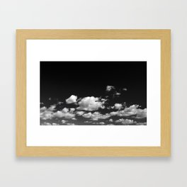 Cotton Clouds (Black and White) Framed Art Print