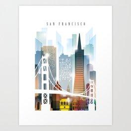 City of San Francisco painting Art Print