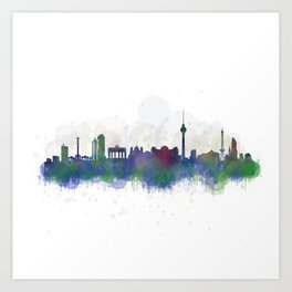 Berlin City Skyline HQ3 Art Print