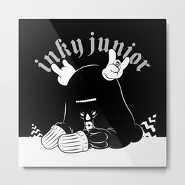 Inky Junior sit down Metal Print