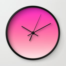 Pink Rose colors ombre abstract pattern  Wall Clock