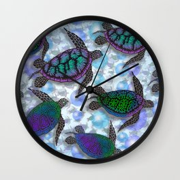 SEA OF TURTLES Wall Clock