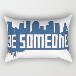 Be Someone - HTX - Navy Rectangular Pillow
