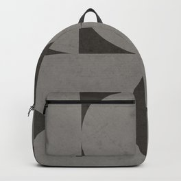 Scandinavian Contemporary Geometry - Square and Half Circles - Dark Grey Backpack