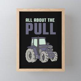 Tractor Driver Farmer Farm Gift Framed Mini Art Print