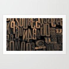 Movable Type 01 Art Print