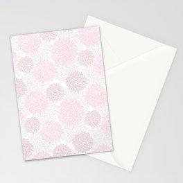 Blush pink brown modern pastel color floral pattern Stationery Cards
