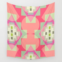 Light shapes in pink Wall Tapestry