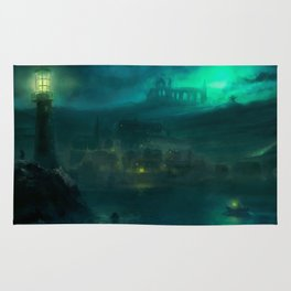 Haunted Fishing Village Rug
