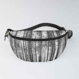 trees in forest landscape - black and white nature photography Fanny Pack