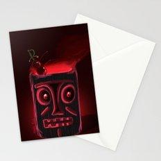 Tiki Black Stationery Cards