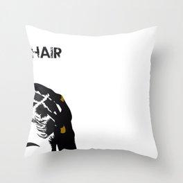 Good Hair Trio Throw Pillow