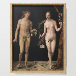 Albrecht Durer - Adam And Eve Serving Tray