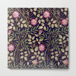 William Morris Sweet Briar Floral Art Nouveau Metal Print
