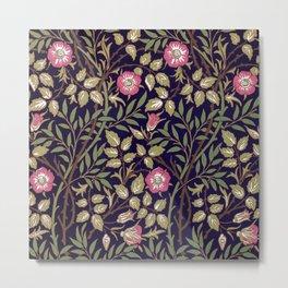 William Morris Sweet Briar Floral Art Nouveau Metal Print