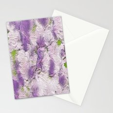 Purple - Lavender Fluffy Floral Abstract Stationery Cards