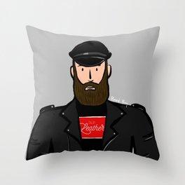 Beard Boy: Martin Throw Pillow