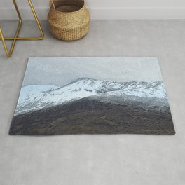Off in the crouching mountains. Scotland Rug