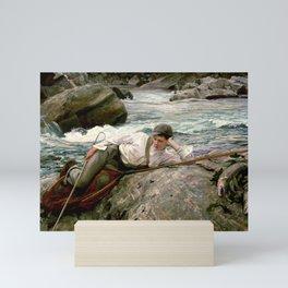 On his Holidays by John Singer Sargent - Vintage Fine Art Oil Painting Mini Art Print