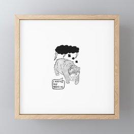I Hate My Brain Framed Mini Art Print