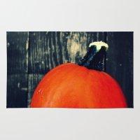 pumpkin Area & Throw Rugs featuring Pumpkin by A.K.H.