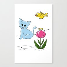 Smiling Cat Canvas Print