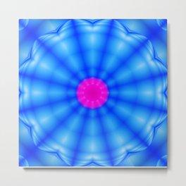 Blue spiral flower Metal Print