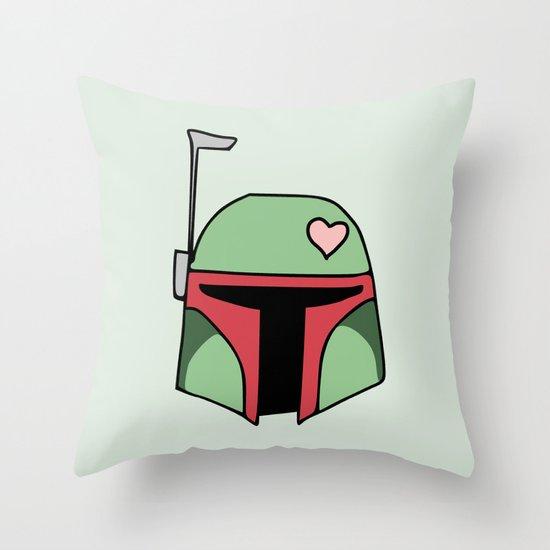 Boba Fett Valentine Throw Pillow
