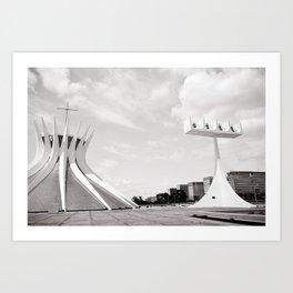 Brasilia's Cathedral | Niemeyer Architect Art Print