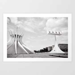 Brasilia's Cathedral | Niemeyer Architect Art Print