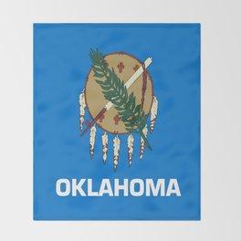 flag of oklahoma-Oklahoma,south,Oklahoman,Okie, usa,america,Tulsa,Norman,Broken Arrow Throw Blanket