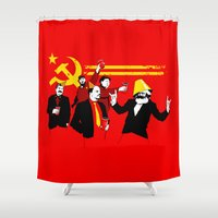 politics Shower Curtains featuring The Communist Party (original) by Tom Burns