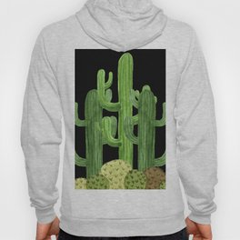 Desert Vacay Three Cacti on Black Hoody