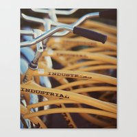 industrial Canvas Prints featuring Industrial by Alicia Bock